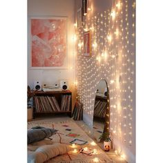 Extra Long Copper Firefly String Lights ($51) ❤ liked on Polyvore featuring home, outdoors, outdoor lighting, outdoor yard lights, outdoor light string, outside string lights and copper exterior lighting