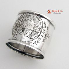 Rock a bye baby on the Tree Top Rhyme Napkin Ring Sterling #SterlingSilverMfgCo