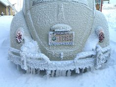 Love this! I've been there. I'm having flashbacks of when I drove my bug year round in Minnesota.