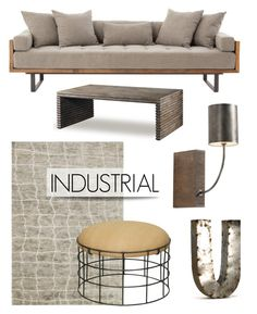 """""""Industrial Decor"""" by kathykuohome ❤ liked on Polyvore featuring interior, interiors, interior design, home, home decor, interior decorating, Home, industrial and industrialloft"""