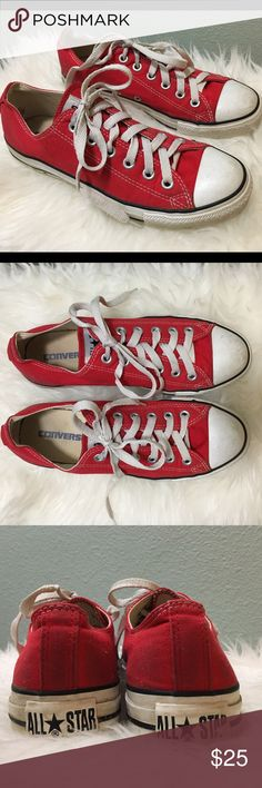 Red Classic Low Top Converse. Chuck Taylor SneakersChuck TaylorsConverse  ShoesShoes ...