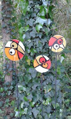 Fused Glass, Glass Vase, Garden Deco, Patches, Painting, Outdoor, Ideas, Mosaic Designs, Glass Ornaments
