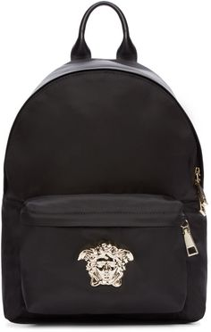edd5f96ce4e6 Versace Black and Silver Nylon Medusa Backpack - ShopStyle