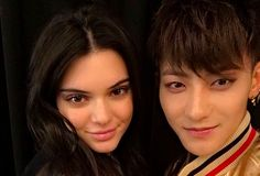 Former EXO member Tao (Z.Tao) with Kendall Jenner at Shanghai Fashion Week