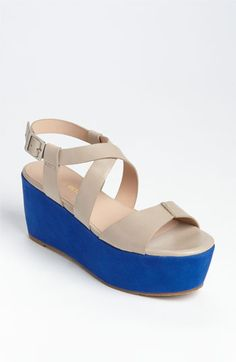 I just bought a similar pair and I'm obsessed! They are funky and supersupersuper comfortable. (Pour la Victoire platform wedge sandals)