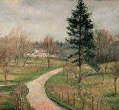 The Chateau At Busagny Painting by Camille Pissarro