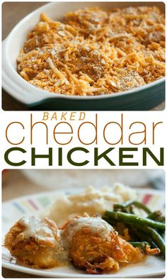Baked Cheddar Chicken I www.orwhateveryoudo.com I #recipe #blog #food