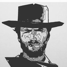 Clint is the man! #art #illustration #tegning #drawing #dotwork #ink #tatovering #tattoo #tattoodesign #trondheim #norge #norway #sketchbook #sketch #pen #portrait #celebrity #celeb #cowboy #clinteastwood #western #usa http://tipsrazzi.com/ipost/1507243172022924119/?code=BTqza3ijzNX