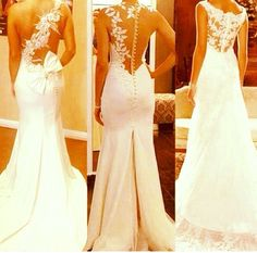 Dream wedding dress. Backless lace