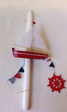 Orthodox Easter Candle Sailboat
