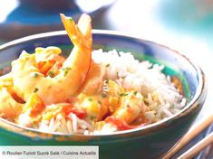 Shrimp with curry Asian Noodle Recipes, Healthy Asian Recipes, Healthy Recipes On A Budget, Curry Recipes, Shrimp Recipes, Healthy Snacks, Vegetarian Recipes, Delicious Recipes, Regional