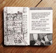 Rebecca Blair Moleskine 02, #026 Sketch in Amsterdam 13.06.13.