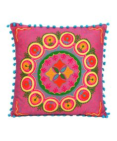 Look what I found on #zulily! Fuchsia Floral Throw Pillow by Karma Living #zulilyfinds