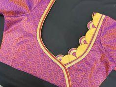 Patch Work Blouse Designs, Simple Blouse Designs, Stylish Blouse Design, Neckline Designs, Back Neck Designs, Blouse Neck Designs, Churidar Neck Designs, Designer Blouse Patterns, Sari Blouse