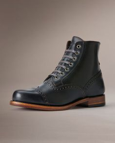 Men's Arkansas Brogue Boot - Black