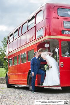 #Bride & #Groom with #Routemaster Red London #Bus