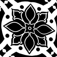 Black and White Bold Abstract:Saundramylesart