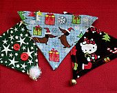 """Cat or XS dog bandanna!  Cat bandannas are made  with """"Hello Kitty"""" fabric!"""