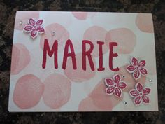 Sconebeker Stempelscheune - Stampin up Sets : Petite Petals, Layered Letters Alphabet