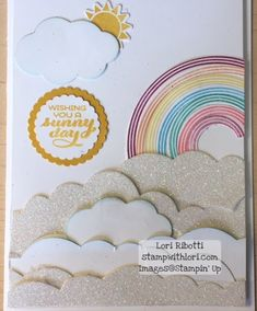 Stampin Up Sunshine and Rainbows and Rainbow Builder