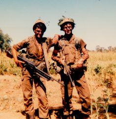 Operation 'Liberation - May Angola - about north of the 'kaplyn' - north of Ombaluntu. Ricardo and Gary - mates from Natal. They introduced me to the music of Hendrix - I remembered them loving 'With the power of soul'. Army Pics, West Africa, South Africa, World Conflicts, Army Day, Brothers In Arms, Defence Force, Military Life, My Heritage