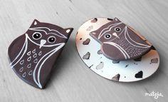 Mateja Lukezic: owl Brooch