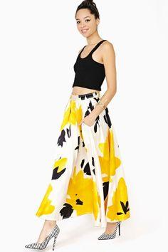 Donna Karan Silk Maxi Skirt