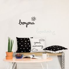 Sticker phosphorescent Bonjour, Bonsoir Phosphorescent  Chispum
