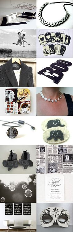 Ebony and Ivory by Cara Link on Etsy--Pinned with TreasuryPin.com