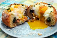 Breakfast Bread Bowls ~ The Starving Chef