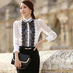 Mulheres Chiffon blusa mulheres blusas blusa