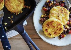 Double Corn Cakes with Black Beans | Vegetarian Times