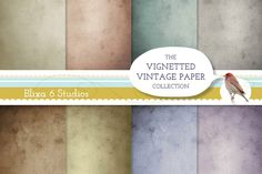 Check out Vintage Paper Vignetted Backgrounds by Blixa 6 Studios on Creative Market