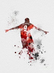 Soccer Mixed Media - Anthony Martial by Rebecca Jenkins Manchester United Wallpaper, Manchester United Team, Football Tops, Best Football Team, Rebecca Jenkins, Rainbow Six Siege Art, Anthony Martial, Soccer Art, Deadpool Wallpaper