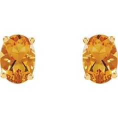 Citrine Earrings Item #67689