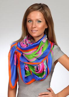 Silk Square Scarf - Silk Badge of Beauty by VIDA VIDA f685Xf