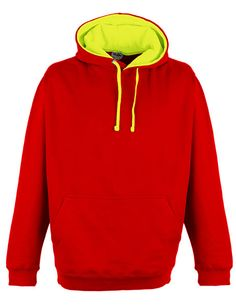 Superbright Hoodie - Fire Red/Electric Yellow