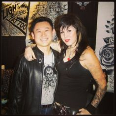 Mithra's Rick Li with the one and only Kat Von D.
