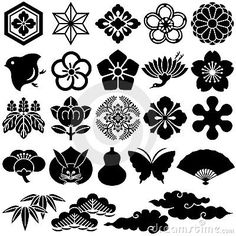 Japanese traditional icons by Lalan33, via Dreamstime
