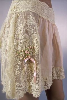 These are Edwardian undergarments. These were loose, comfortable and pretty.                                                                                                                                                      More