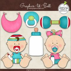 Cutie Baby 1 - Whimsical Clip Art by Alice Smith