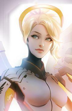 Overwatch: Mercy by Zolaida.deviantart.com on @DeviantArt - More at https://pinterest.com/supergirlsart/ #overwatch #fanart