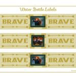 "Free ""Brave"" Party Printable Water Bottle Labels"