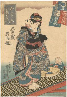 by Kuniyoshi / 當盛五人娘  国芳