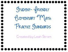 As we embark on Common Core, the major shift in math is problem solving. There are 8 math practice standards that they have set for students to do ...