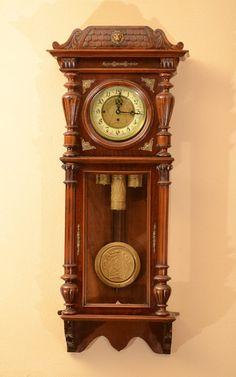 Gustav Becker Triple Weight Wall Clock (German)