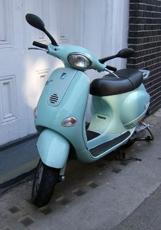 Retro Duck-egg blue Vespa, Clerkenwell, London