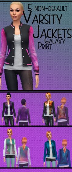 Freys Couture: Galaxy jackets • Sims 4 Downloads