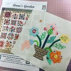 "65 Likes, 4 Comments - 상상 가득한 빙봉 (@hellomihyun) on Instagram: ""Anna's Garden 좀 이상해도 괜찮아. 좀 엉성해도 괜찮아. 좀 촌시려도 괜찮아. 내 눈에만 예쁘면 돼~ㅋㅋ #anna's_garden #quilt #quilters…"""