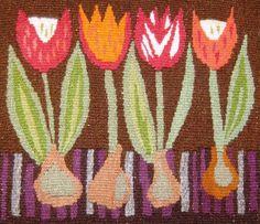 handwoven Swedish tulip tapestry #crafts #fiberart
